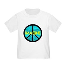 IMAGINE with PEACE SYMBOL T