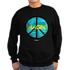 IMAGINE with PEACE SYMBOL Sweatshirt