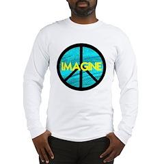 IMAGINE with PEACE SYMBOL Long Sleeve T-Shirt