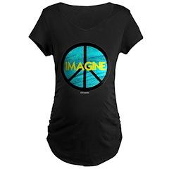 IMAGINE with PEACE SYMBOL T-Shirt
