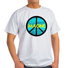 IMAGINE with PEACE SYMBOL T-Shirt