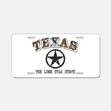 Lone Star State Aluminum License Plate