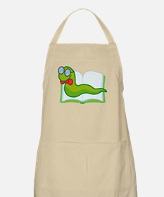 Funny Bookworm Reading Librarian Apron