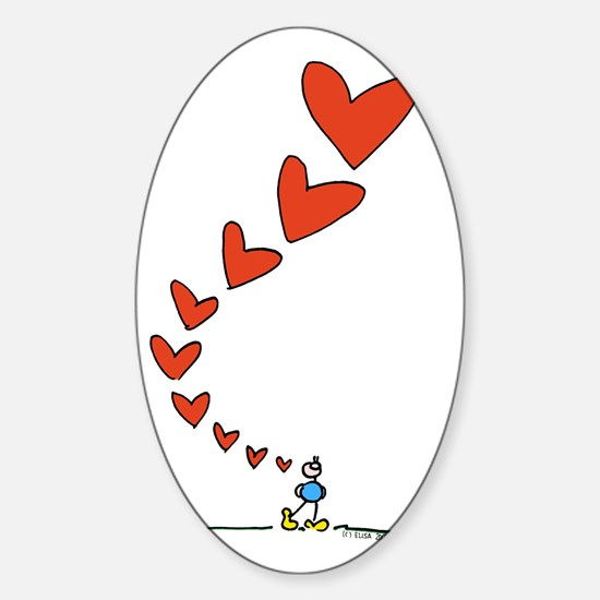 Thinking of Love Oval Decal