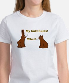 Chocolate Bunnies My Butt Hur Women's T-Shirt