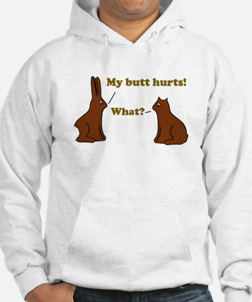 Chocolate Bunnies My Butt Hur Jumper Hoody