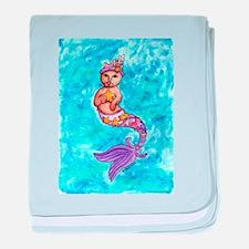 Starfish Mercat baby blanket