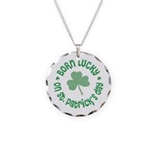 St. Patrick's Day Birthday Necklace Circle Charm