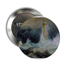 "Bell Rock Lighthouse 2.25"" Button"