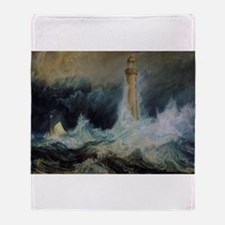 Bell Rock Lighthouse Throw Blanket