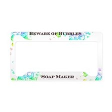 Soap Maker License Plate Holder