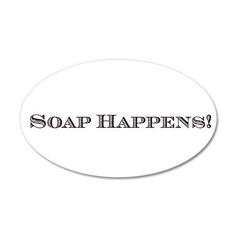 Soap Maker 38.5 x 24.5 Oval Wall Peel