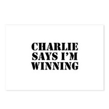 Charlie Says I'm Winning Postcards (Package of 8)