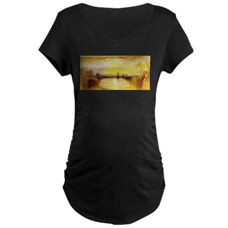 Chichester Canal Maternity Dark T-Shirt