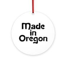 Made in Oregon Ornament (Round)