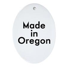 Made in Oregon Ornament (Oval)