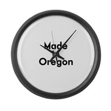 Made in Oregon Large Wall Clock