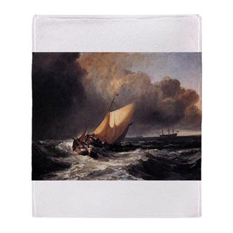 Dutch Boats in a Gale Throw Blanket