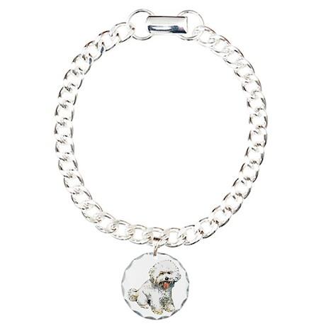 Bichon Frise Charm Bracelet, One Charm