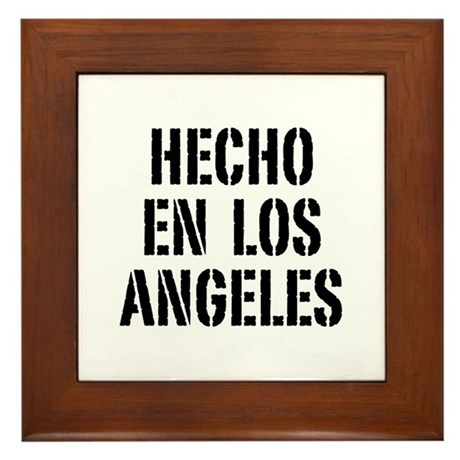 Hecho En Los Angeles Framed Tile
