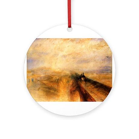 Rain, Steam, and Speed Ornament (Round)