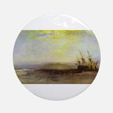 Ship Aground Ornament (Round)