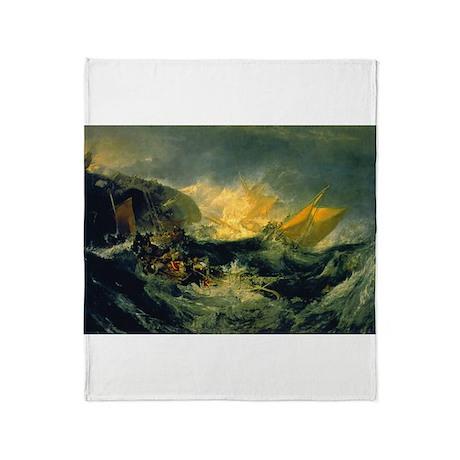 Shipwreck of the Minotaur Throw Blanket