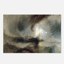 Snow Storm Steam Boat Postcards (Package of 8)