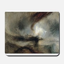 Snow Storm Steam Boat Mousepad