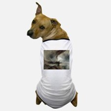 Snow Storm Steam Boat Dog T-Shirt