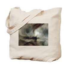 Snow Storm Steam Boat Tote Bag