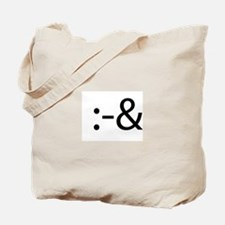 Tongue Tied Smilie Tote Bag