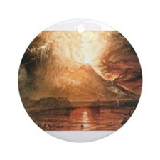 Vesuvius Erupting Ornament (Round)