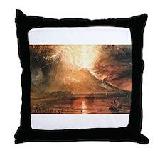 Vesuvius Erupting Throw Pillow