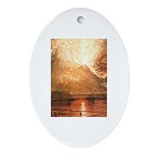 Vesuvius Erupting Ornament (Oval)