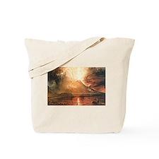 Vesuvius Erupting Tote Bag
