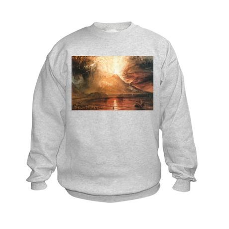 Vesuvius Erupting Kids Sweatshirt