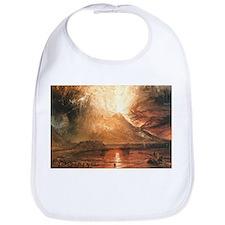 Vesuvius Erupting Bib