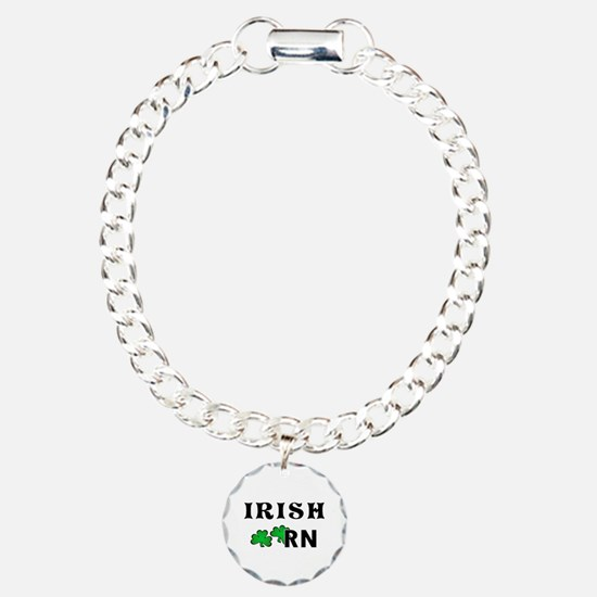 Irish Nurse RN Charm Bracelet, One Charm