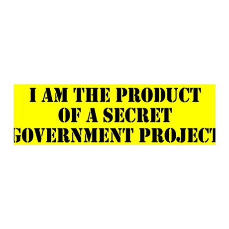 Product of Government 36x11 Wall Decal