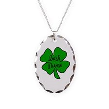 Irish Nurse Necklace Oval Charm