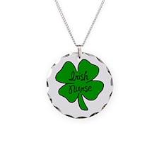 Irish Nurse Necklace Circle Charm