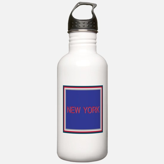 New York Blue Water Bottle