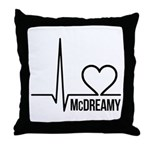 McDreamy Grey's Anatomy Throw Pillow