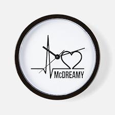 McDreamy Grey's Anatomy Wall Clock