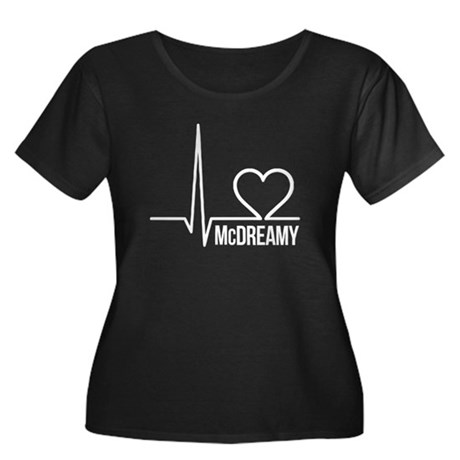 McDreamy Grey's Anatomy Women's Plus Size Scoop Ne