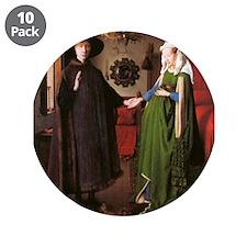 "Portrait of Giovanni Arnolfin 3.5"" Button (10 pack"
