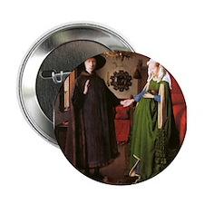 "Portrait of Giovanni Arnolfin 2.25"" Button"