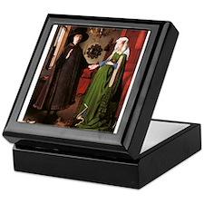 Portrait of Giovanni Arnolfin Keepsake Box