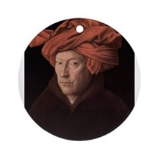 Man in a Turban Ornament (Round)